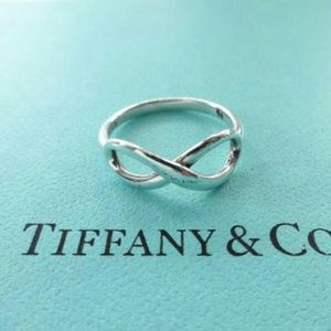 Tiffany & Co 925 Silver Infinity Ring